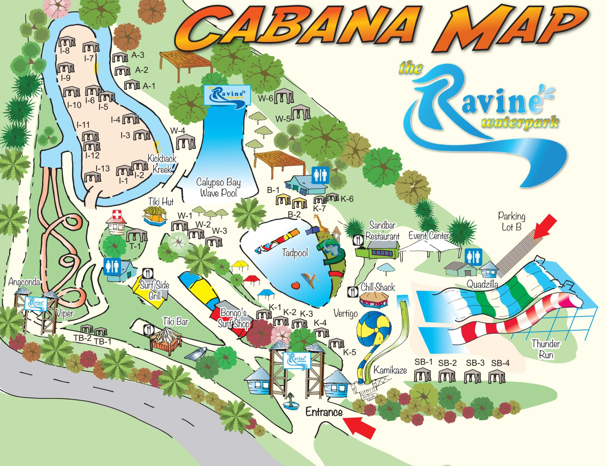Cabana Rentals at Ravine Waterpark | Ravine Waterpark